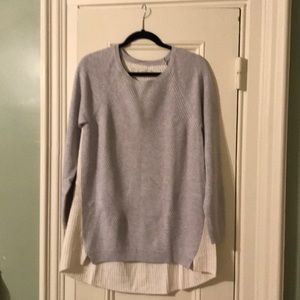"Long ""baseball"" style sweater"